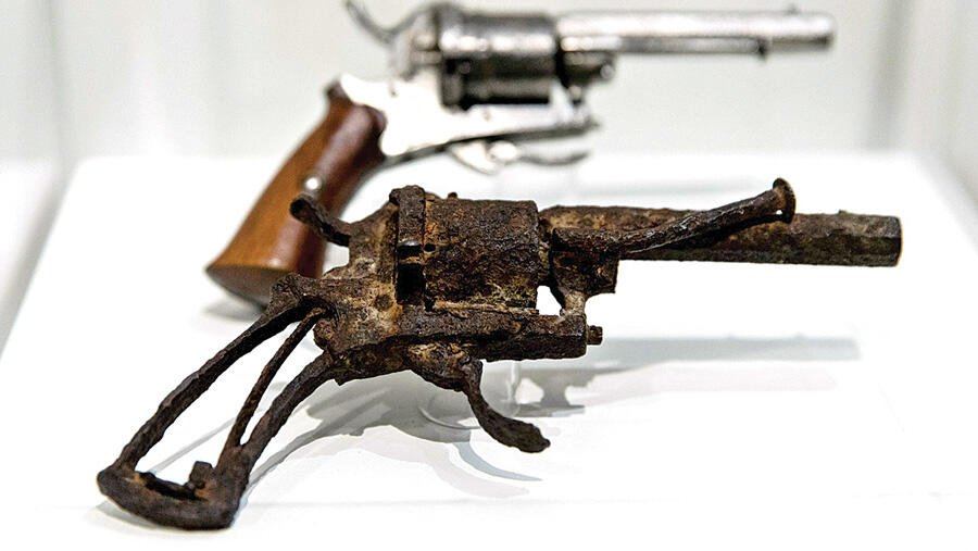 The gun with which Van Gogh was shot before his death.