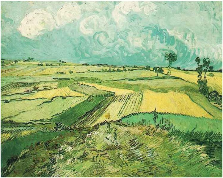 Wheatfields at Auvers under Clouded Sky (July 1890)