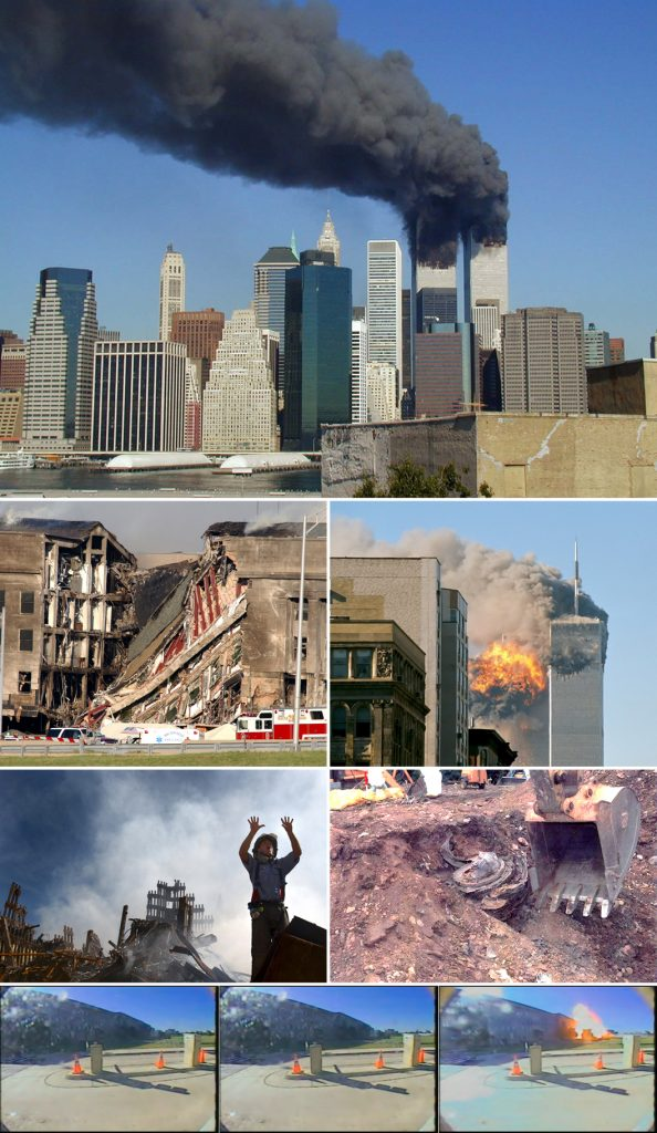 Images of the sites which were attacked altogether.