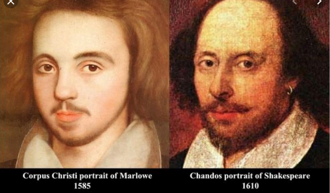 Marlowe and Shakespeare's picture together.