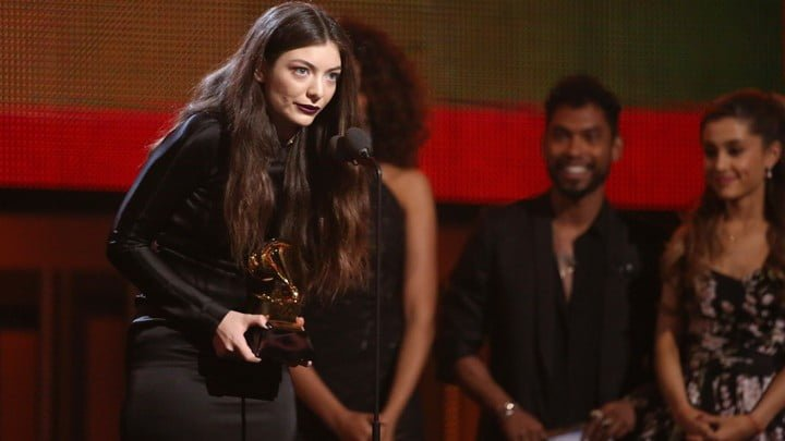 Lorde at the Grammy's