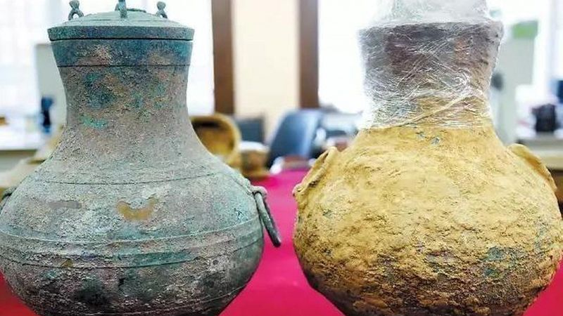 artifacts from distillery in China
