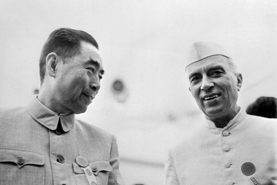 Zhou Enlai And Jawaharla Nehru